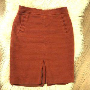 Ann Taylor Rust Pencil Skirt